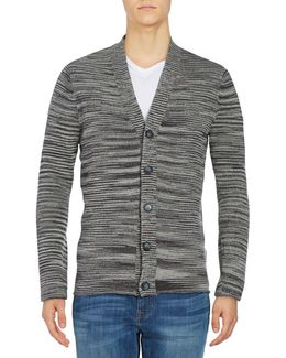 Marled Button-front Cardigan Sweater