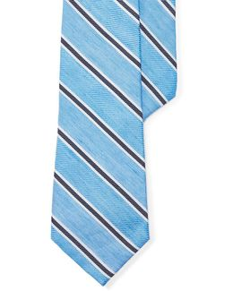 Striped Silk-linen Tie