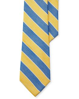 Striped Cotton-silk Tie