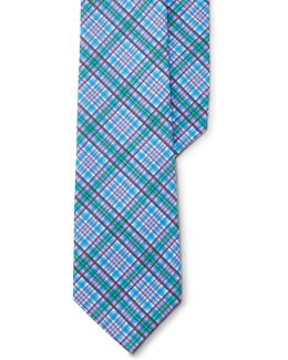 Plaid Cotton Tie