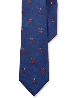 Golf Flag Silk Tie
