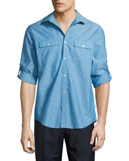 Textured Cotton Sportshirt