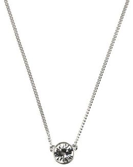 Single Crystal Stone Necklace