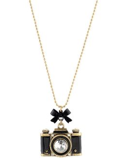Camera Long Pendant Necklace