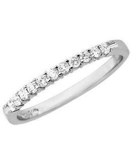 Diamond Ring In 14 Kt. White Gold 0.2 Ct. T.w.