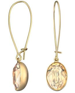 Puzzle Gold-plated Crystal Earrings