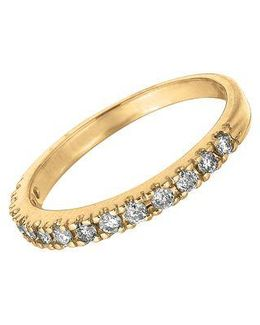 Diamond Ring In 14 Kt. Yellow Gold