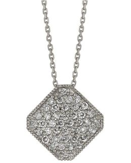 Diamond Pendant In 14 Kt. White Gold