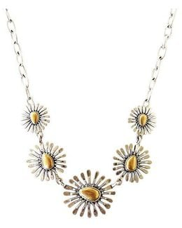 Two-tone Floral Collar Necklace
