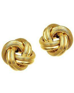 14k Yellow Gold Knot Earrings