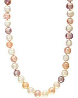 Sterling Silver Pink Pearl Necklace