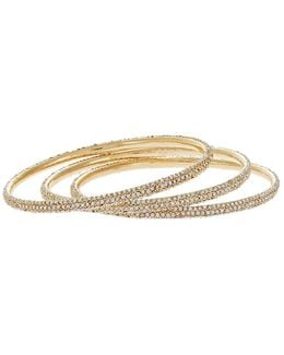 Three-piece Pave Bangle Set