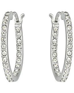 Somerset Rhodium-plated Hoop Earrings