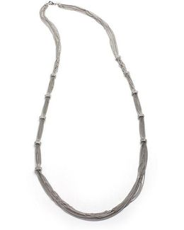 Pavé Rondelle Link Chain Necklace