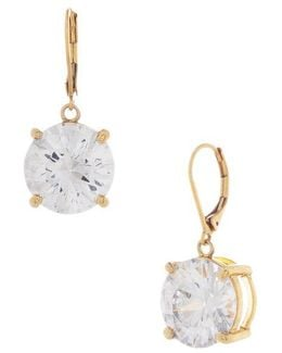 Goldtone And Crystal Drop Earrings