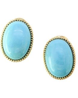 Turquesa Turquoise And 14k Yellow Gold Earrings