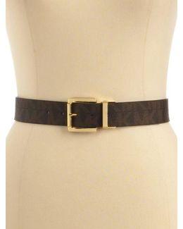 Reversible Faux Leather Logo Belt
