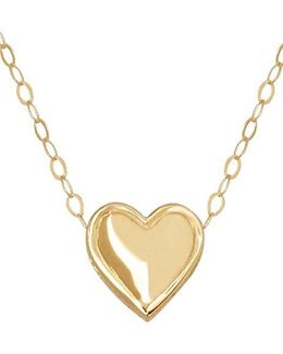 14 Kt. Yellow Gold Heart Charm Necklace