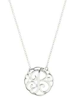 Sterling Silver B Initial Pendant Necklace