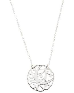Sterling Silver G Initial Pendant Necklace