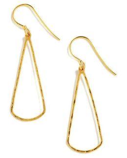 18k Gold Over Sterling Silver Linear Drop Earrings