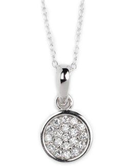 Sterling Silver And Cubic Zirconia Pendant Necklace