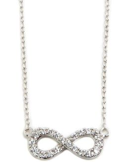 Sterling Silver And Cubic Zirconia Infinity Pendant Necklace