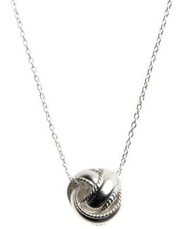Sterling Silver Sliding Knot Necklace