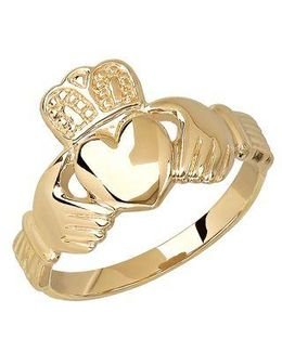 14 Kt. Yellow Gold Claddagh Ring