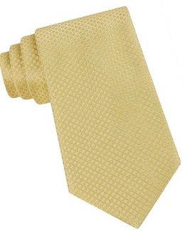 Classic Fit Micro Dot Textured Silk Tie