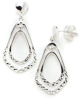 Sterling Silver Double Drop Earrings