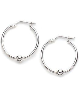 Sterling Silver Mini Ball Hoop Earrings