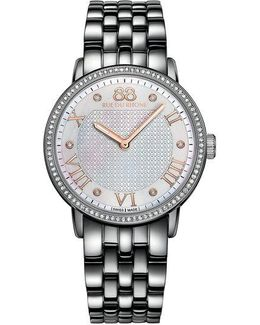 Ladies Stainless Steel And Diamond Bracelet Watch