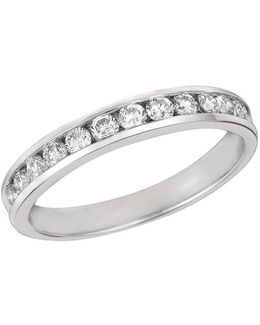 Diamond And 14k White Gold Ring 0.5 Tcw