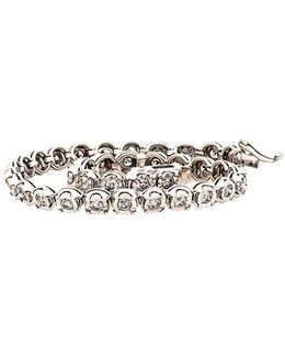 Diamond And Sterling Silver Tennis Bracelet, 2.0 Tcw