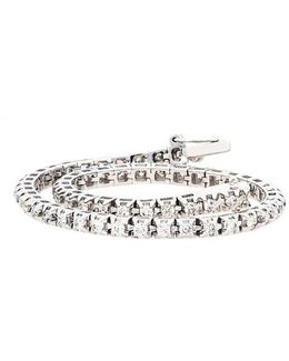 14kt. White Gold And Diamond Tennis Bracelet