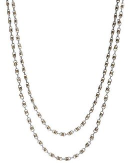 Two-tone Double Layer Necklace