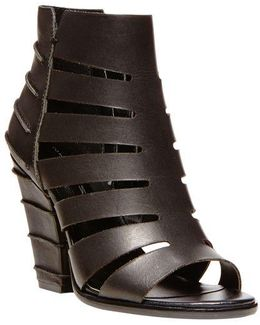Casted Leather Sandal Booties