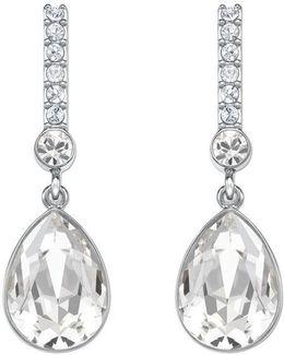 Attention Crystal Linear Drop Earrings