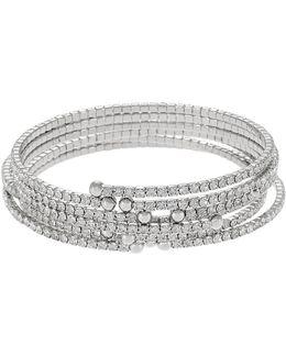 Modern Pavé Wrap Bracelet Set