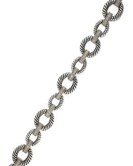 Balissima Sterling Silver, Diamond And 18k Yellow Gold Oval Bracelet