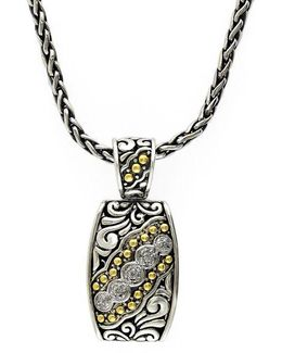 Balissima 18k Yellow Gold And Sterling Silver Diamond Pendant Necklace