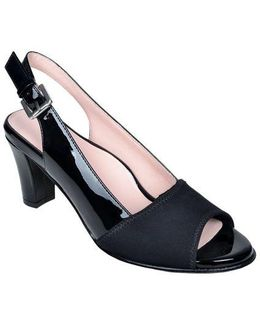 Fortula Patent Leather Slingback Pumps