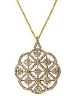 Diamond And 14k Yellow Gold Pendant Necklace, 2.08 Tcw