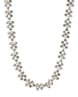 Crystallized Silvertone Collar Necklace