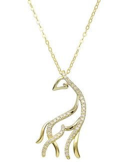 14kt. Yellow Gold And Diamond Horse Pendant Necklace