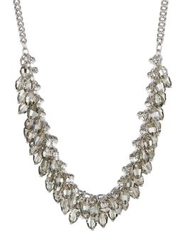Briolette Fringe Bib Necklace