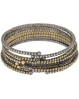 Rhinestone Accented Bangle Set