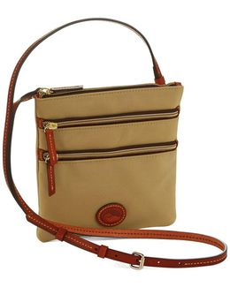 North South Triple Zip Crossbody