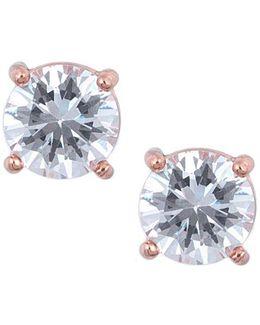 Rose Goldtone And Cubic Zirconia Stud Earrings
